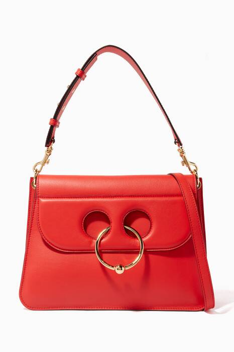 Red Medium Pierce Shoulder Bag