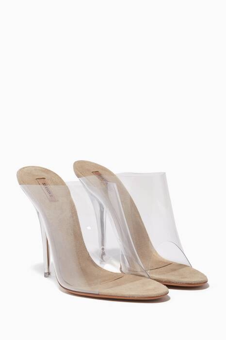Transparent PVC Open-Toe Mules