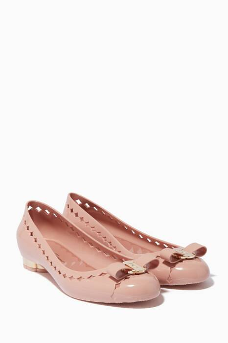 Light-Pink Jelly Just Bow Ballerinas