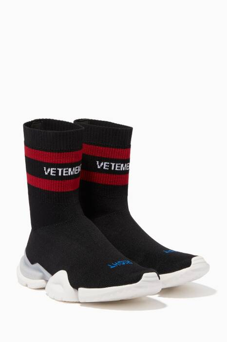 Black Vetements X Reebok Sock Sneakers