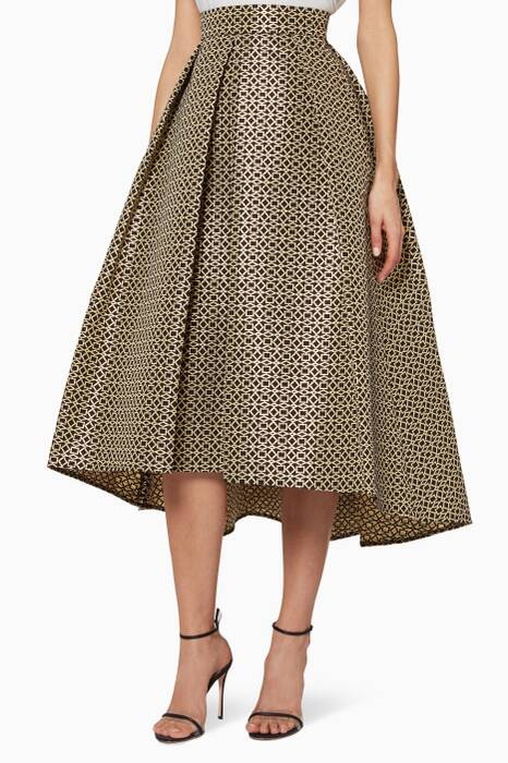 Black & Gold Lurex Skirt