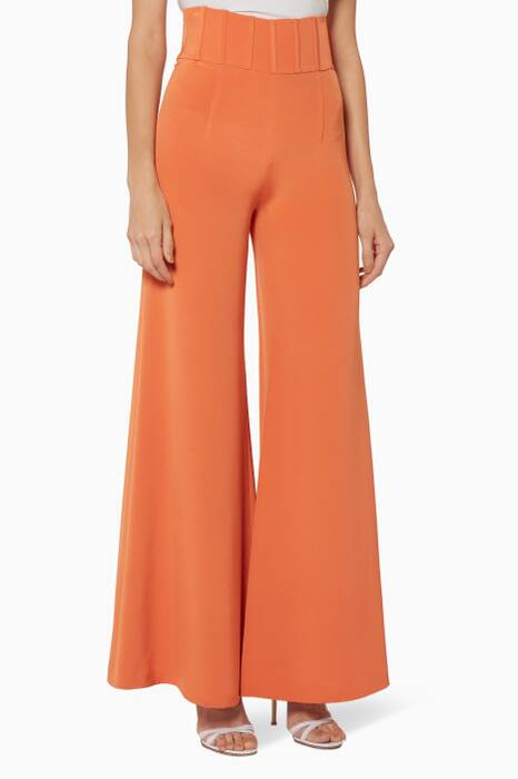 Orange High-Waisted Jade Pants