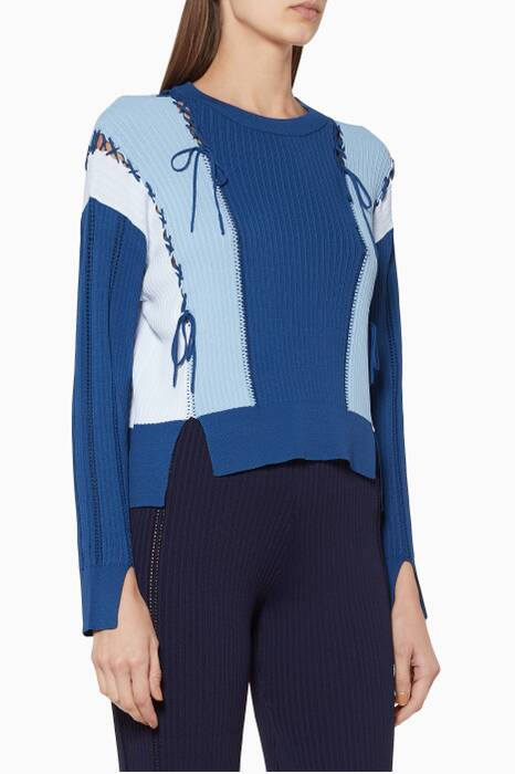Blue Long-Sleeve Sweater