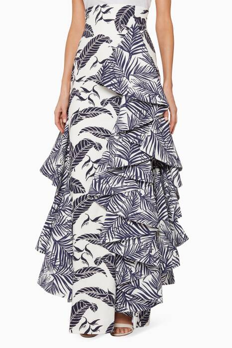 Multi-Coloured Printed Brisas Maxi Skirt