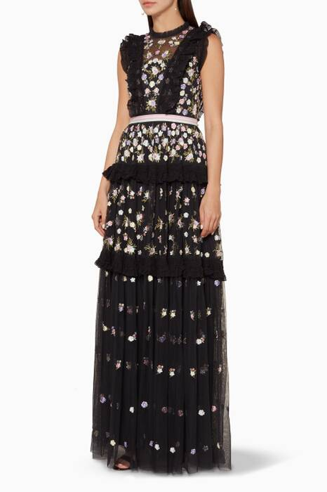 Black Prism Ditsy Gown