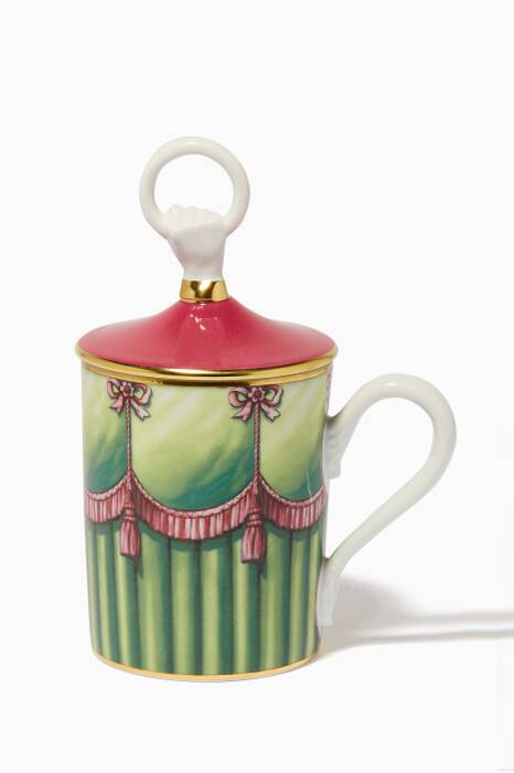 Multi-Coloured Curtain Hand Ring Mug