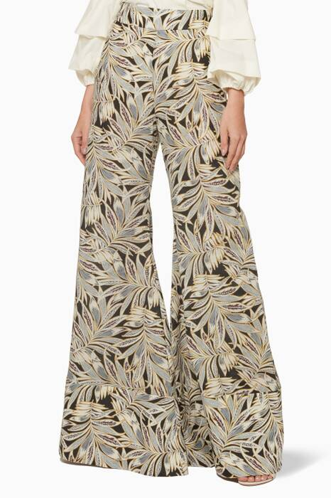 Multi-Colour Printed Adonia Palazzo Pants