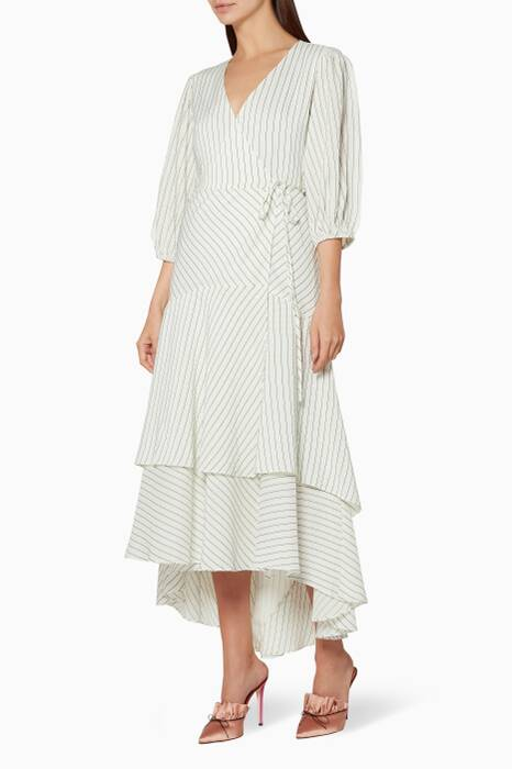 Off-White Wilkie Wrap Dress