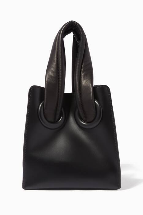 Black Deon 19 Leather Tote Bag
