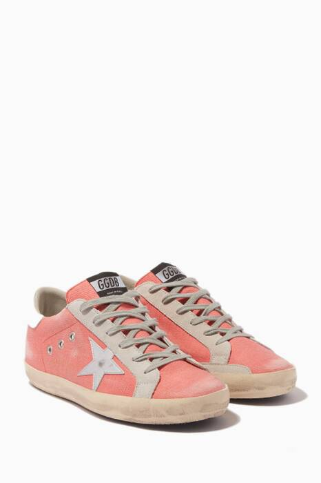Pink Denim Superstar Sneakers
