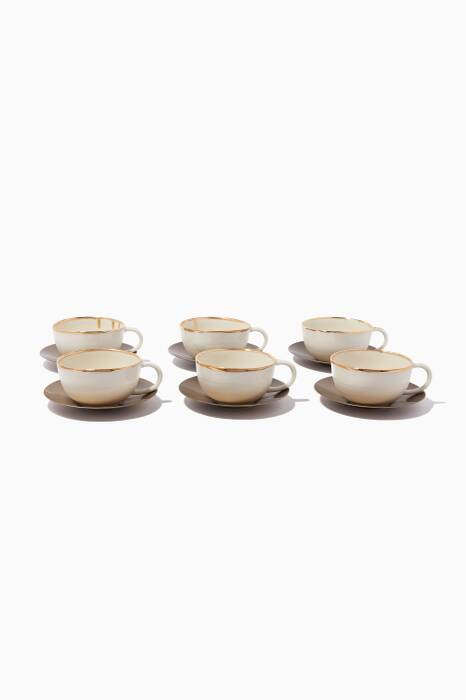 Gold Mosaic Cappuccino Set Of 6