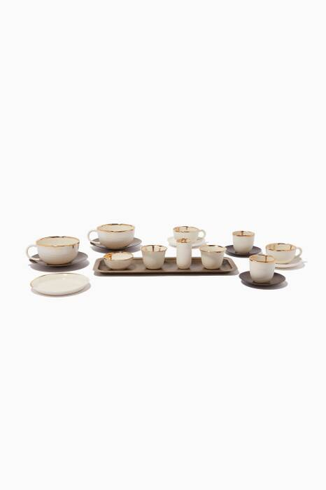 Gold Mosaic Coffee Lovers Coffee Set