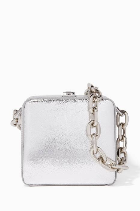 Silver Cube Shoulder Bag