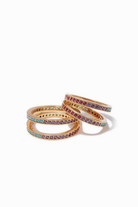 Multi-Coloured Set Of Two Criss-Cross Rings