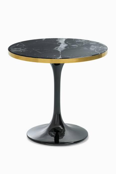 Black Faux-Marble Parme Coffee Table