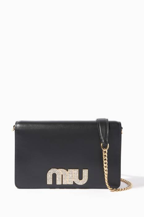 Black Lady Miu Chain Wallet