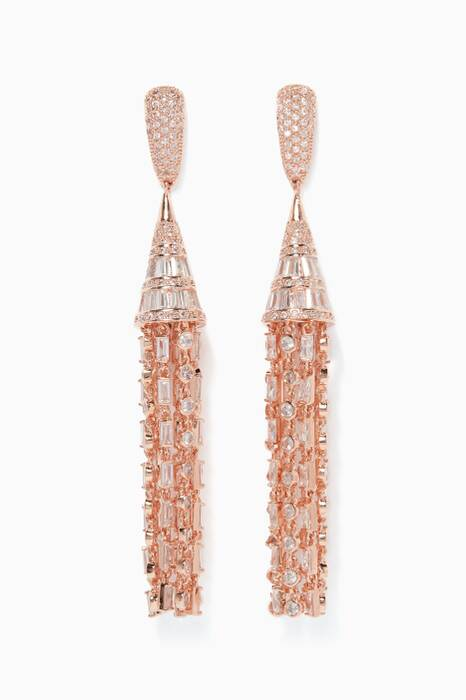 Rose-Gold Monarch Deco Tuile Earrings