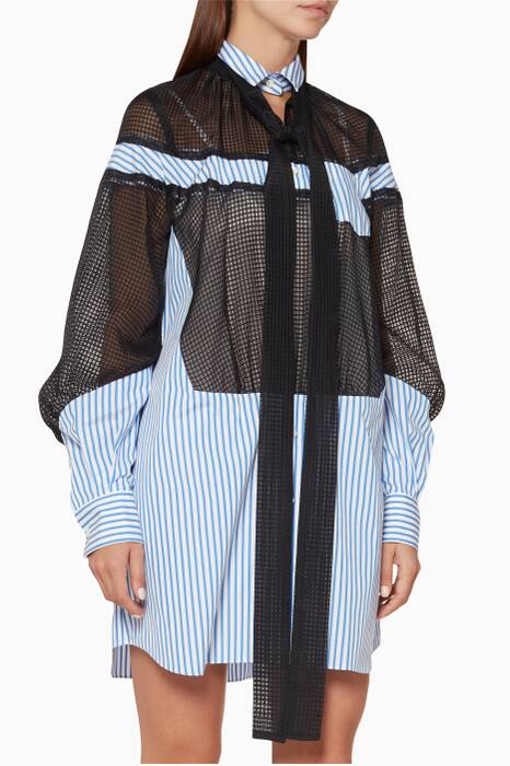 Blue & White Striped Shirtdress