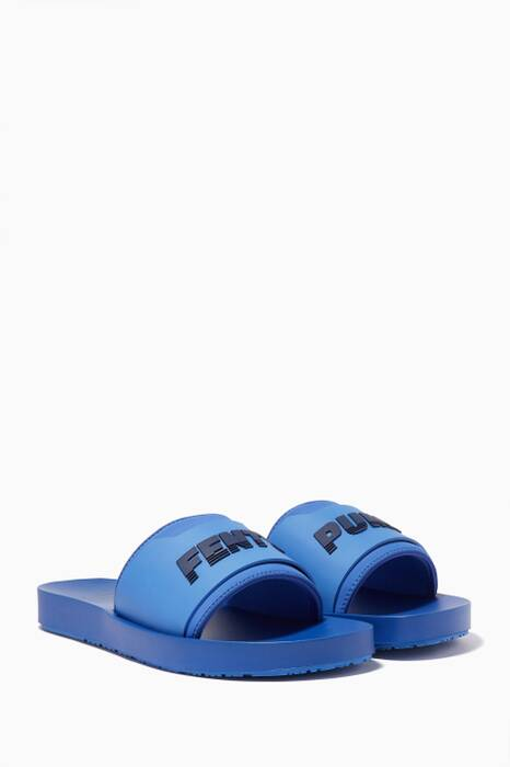 Blue Fenty Surf Slides