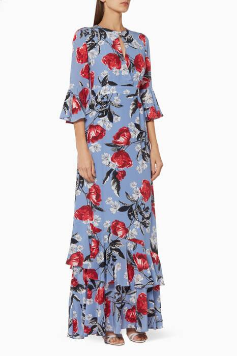 Multi-Coloured Venice Ellington Peony Gown