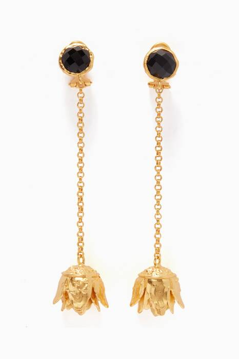 Gold Nalina Drop Earrings