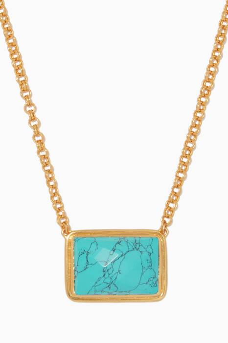 Gold & Turquoise Jasper Necklace