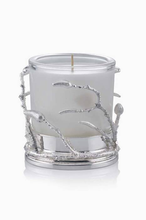 White & Silver Plated Branch Candle Holder