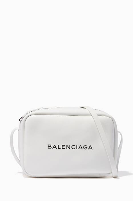 White Everyday Camera Logo Cross-Body Bag