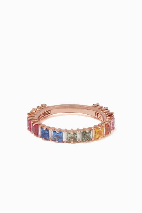 Rose-Gold & Rainbow Sapphire Emily Band