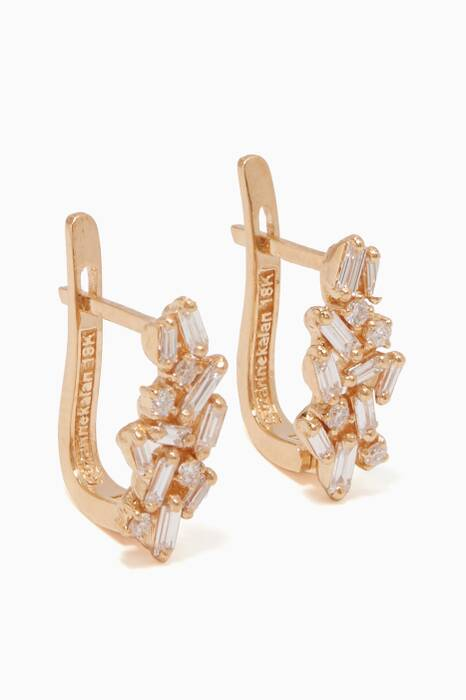 Yellow-Gold & Diamond Huggie Earrings