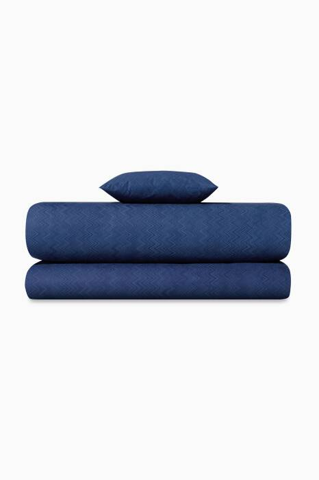 Blue Jo 50 Flat Sheet, Fitted Sheet & Pillowcase Set
