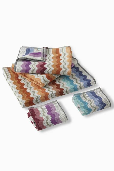 Multi-Coloured Vasilij Towels, Set of 5