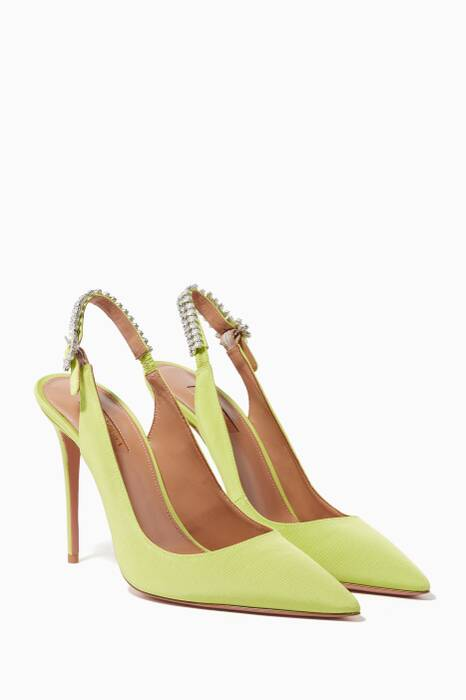 Light-Green Portrait Of A Lady Slingback Pumps