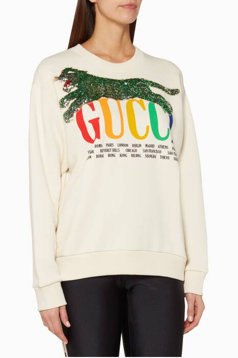 Off-White Printed Cities Sweatshirt