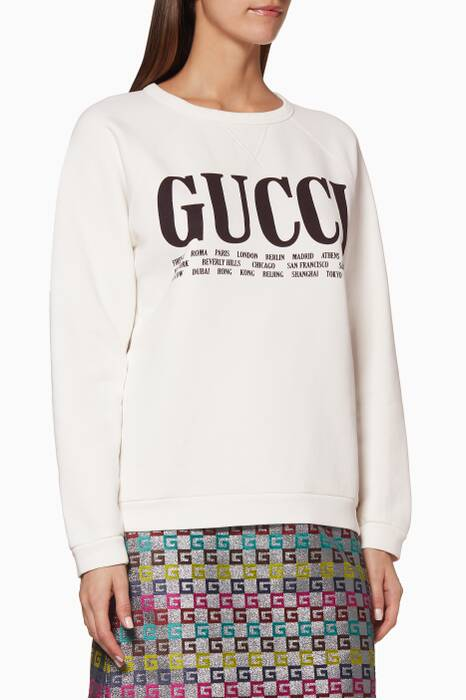 Off-White Gucci Cities Printed Sweatshirt