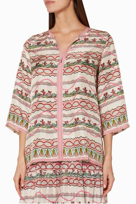 Multi-Coloured Printed Tunic