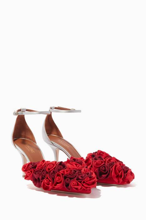 Red & Silver Mirrored Bacchus Pumps