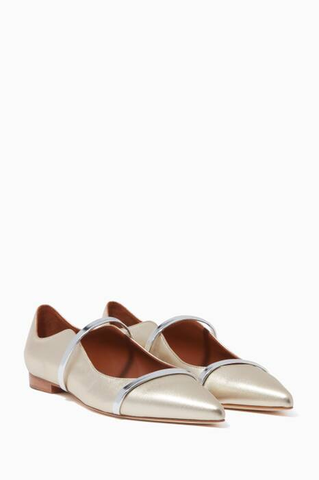 Metallic Gold Maureen Flat Pumps