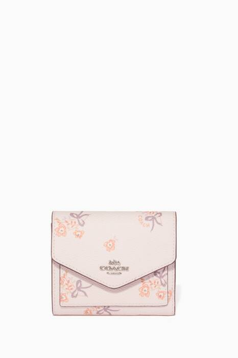 Ice-Pink Floral-Print Small Wallet