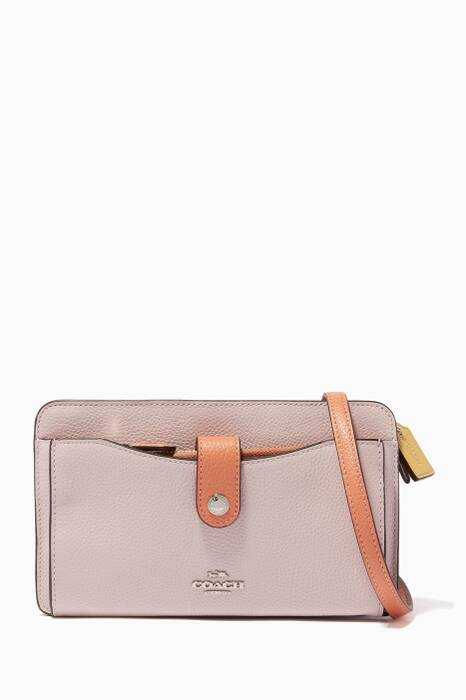 Ice-Pink Pop-Up Messenger Shoulder Bag