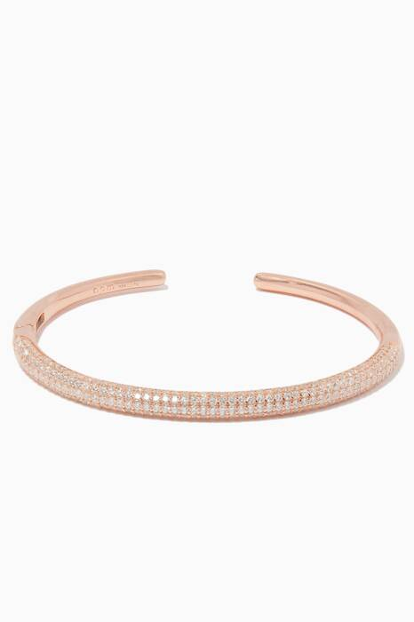 Rose-Gold & Zirconia Embellished Bangle