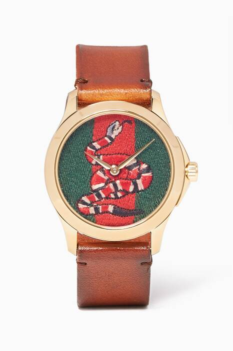 Brown & Green Serpent Le Marché des Merveilles Leather Watch