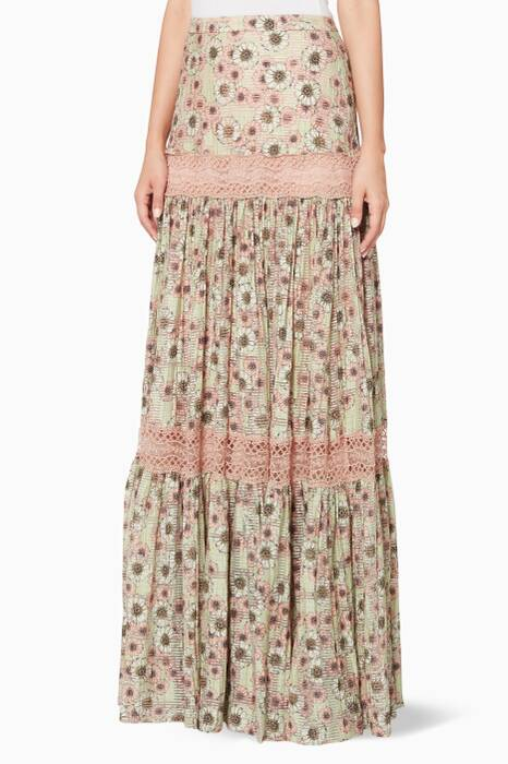 Multi-Coloured Hedy Floral-Print Maxi Skirt