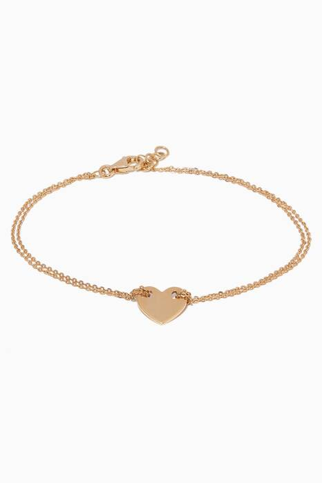 Yellow-Gold Girl Code Little Heart Bracelet