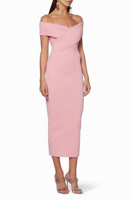 Pink Off-The-Shoulder Cecile Dress