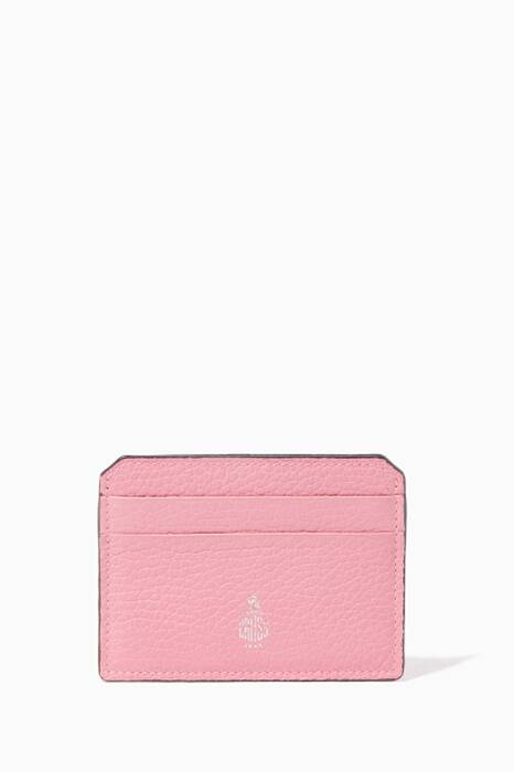 Pink Leather Cardholder