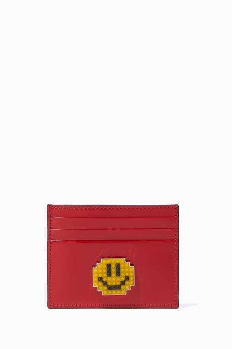 Red Smile Leather Cardholder