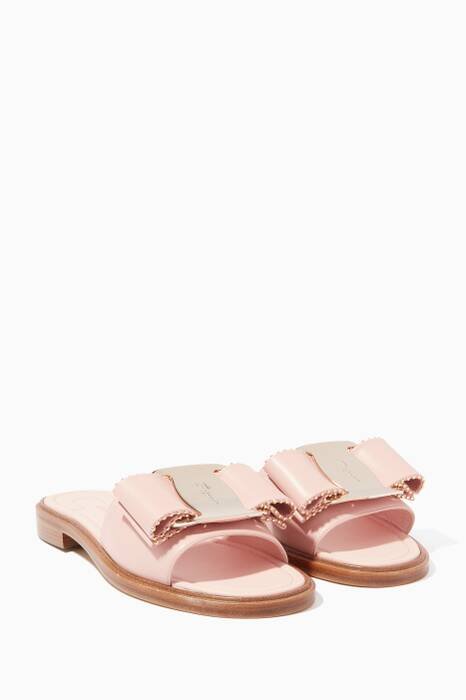 Light-Pink Isera Bow Slides