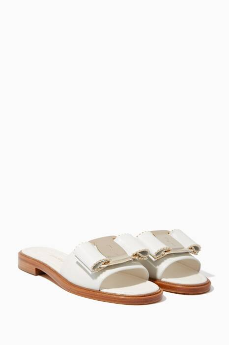 White Isera Bow Slides