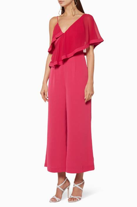 Fuchsia No Love Jumpsuit